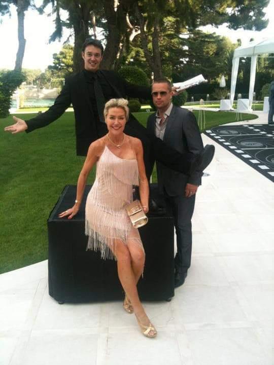 magicien à cannes avec Sharon Stone & Brad Pitt